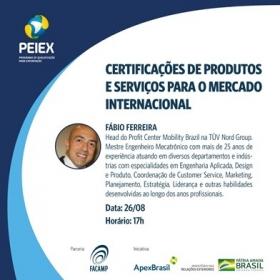 PEIEX CAMPINAS: Certificações de produtos e serviços para o mercado internacional