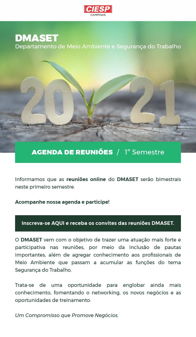 AGENDA DE REUNIÕES DMASET 2021 - PARTICIPE